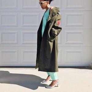 VINTAGE | Wool US Olive Green Military Coat